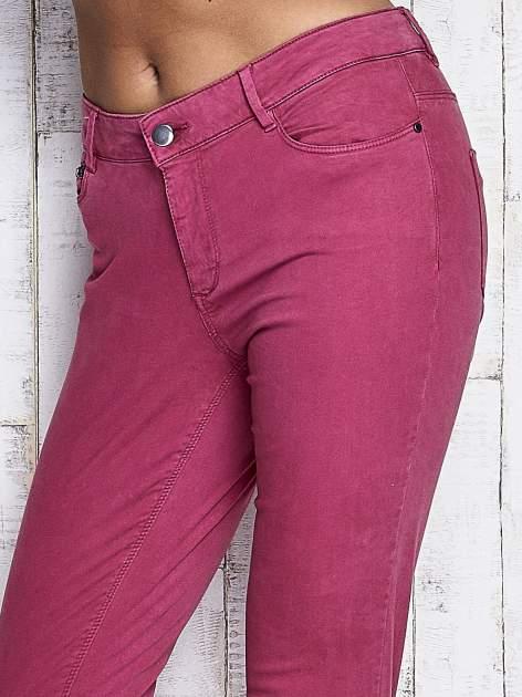 Fuksjowe spodnie z suwakami na nogawkach                              zdj.                              4