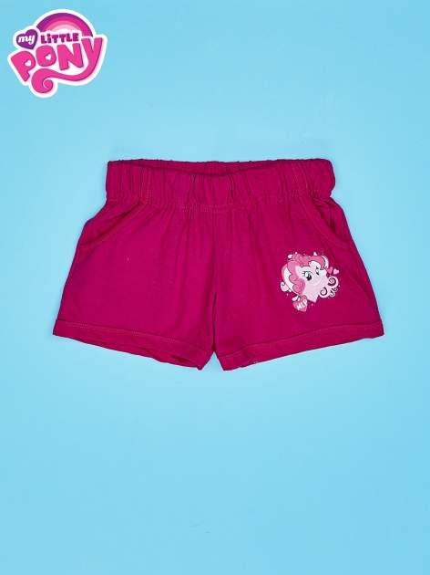 Fuksjowe szorty dla dziewczynki z różowym nadrukiem MY LITTLE PONY