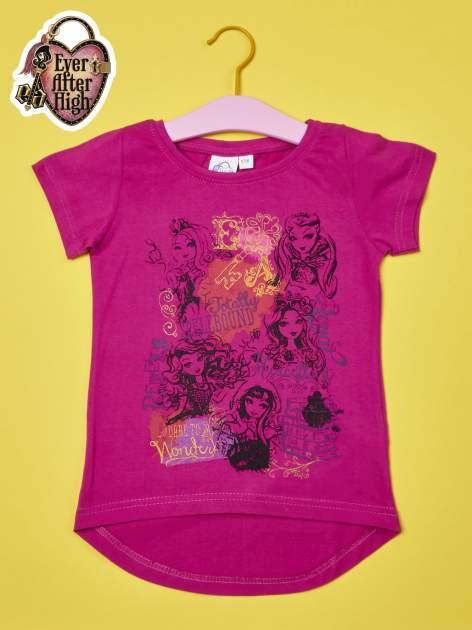 Fuksjowy t-shirt dla dziewczynki EVER AFTER HIGH
