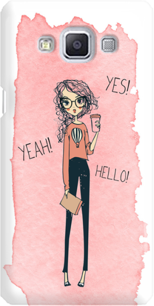 Funny Case ETUI SAMSUNG A5 YES, YEAH, HELLO