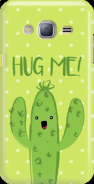 Funny Case ETUI SAMSUNG J3 2016 CACTUS HUG ME