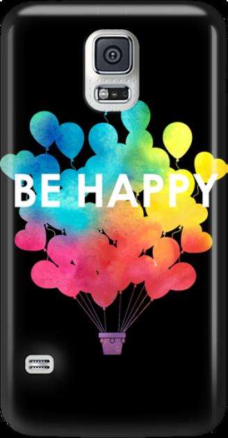 Funny Case ETUI SAMSUNG S5 BE HAPPY