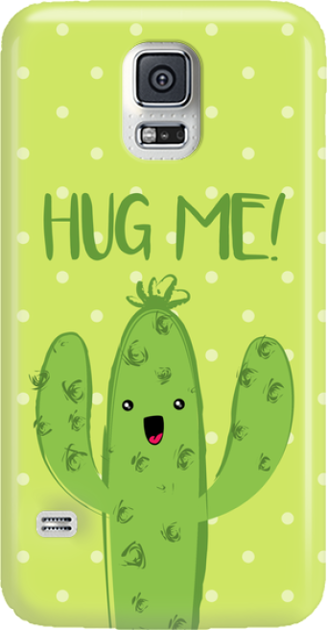 Funny Case ETUI SAMSUNG S5 CACTUS HUG ME