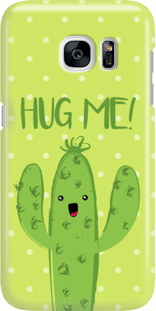 Funny Case ETUI SAMSUNG S7 CACTUS HUG ME