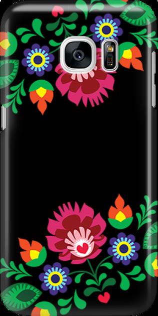 Funny Case ETUI SAMSUNG S7 FOLK BLACK