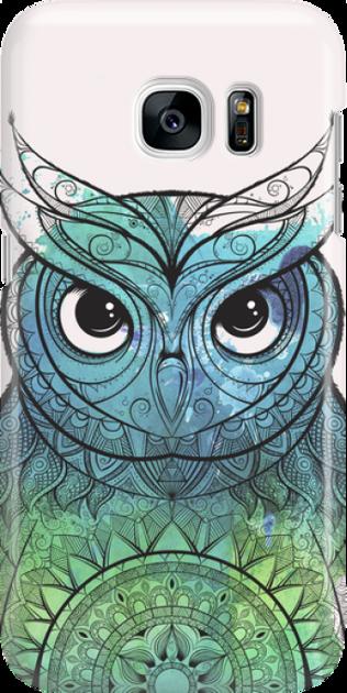 Funny Case ETUI SAMSUNG S7 OWL