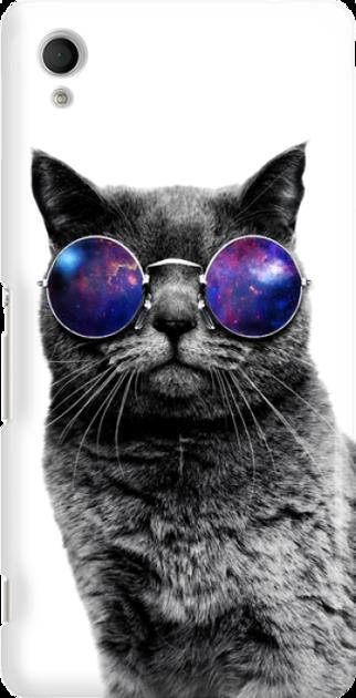 Funny Case ETUI SONY XPERIA M4 AQUA CAT