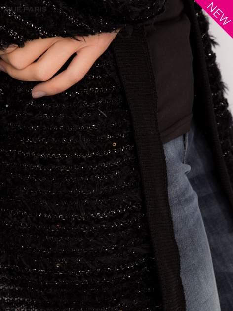 Futrzany sweter nietoperz przeplatany błyszczącą nicią                                  zdj.                                  7