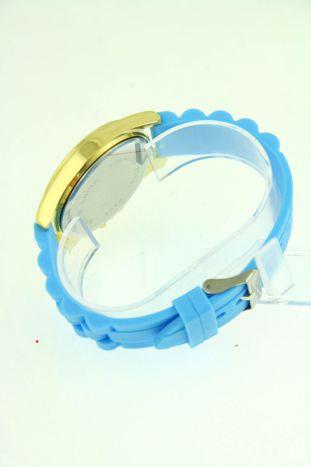 GENEVA Błękitny zegarek damski z cyrkoniami na silikonowym pasku                                  zdj.                                  3
