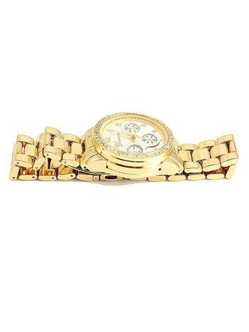 GENEVA Złoto-srebrny zegarek damski z cyrkoniami na bransolecie GENEVA                                  zdj.                                  5