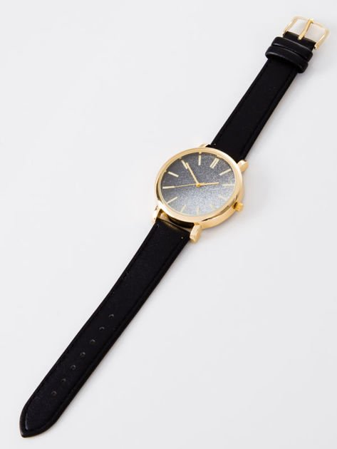 GLITTER OMBRE czarny zegarek damski                              zdj.                              3