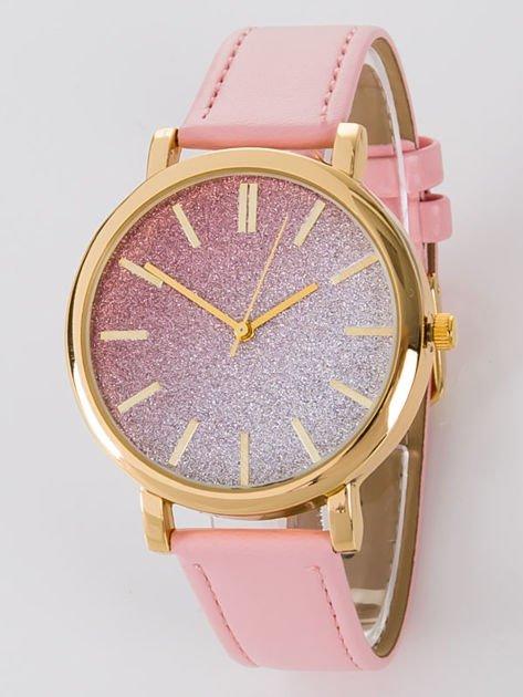 GLITTER OMBRE jasnoróżowy zegarek damski                              zdj.                              1