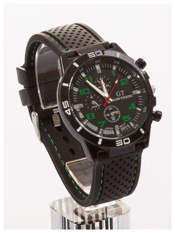 GT Czarno-zielony sportowy zegarek męski GRAND TOURING                                  zdj.                                  3