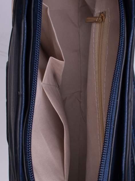 Ganatowa pozioma torba ze złotymi detalami                                  zdj.                                  5