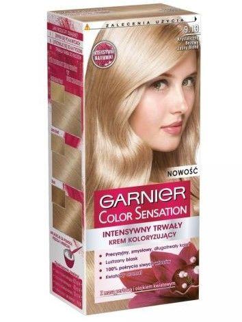 Garnier Color Sensation Krem koloryzujący do włosów 9.13 Krystaliczny Beżowy Jasny Blond