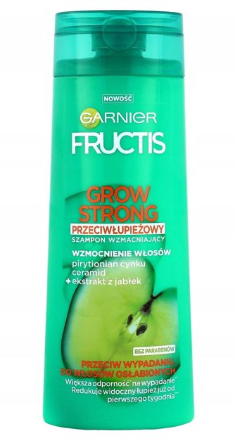 Garnier Fructis Szampon do włosów przeciw wypadaniu Przeciwłupieżowy Grow Strong  400 ml