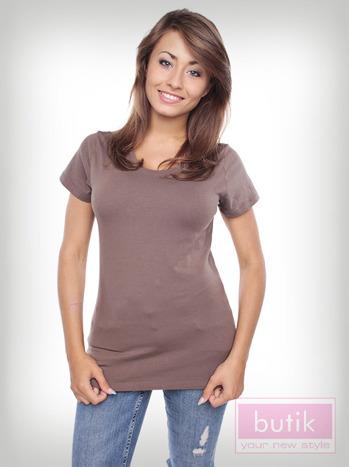 Gładki t-shirt                                  zdj.                                  4