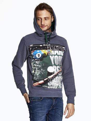 Grafitowa bluza męska z napisem MAKE YOUR BEST SHOUT                              zdj.                              5