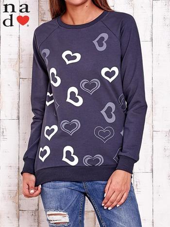 Grafitowa bluza w serduszka                                  zdj.                                  2
