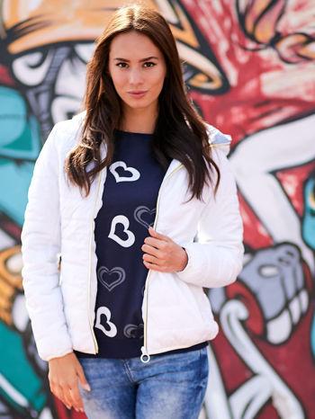 Grafitowa bluza w serduszka                                  zdj.                                  1