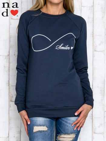 Grafitowa bluza z napisem SMILER                                  zdj.                                  1