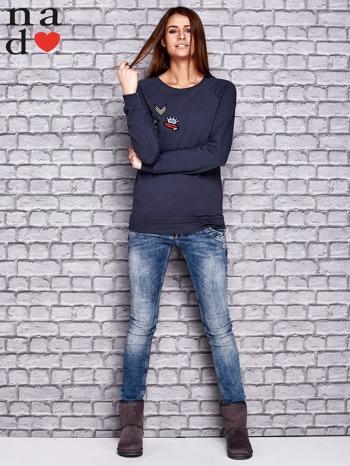 Grafitowa bluza z naszywkami                                  zdj.                                  2