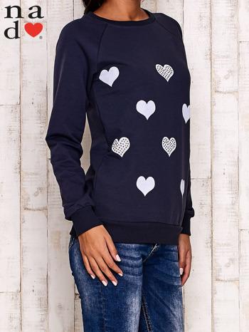 Grafitowa bluza z serduszkami                                  zdj.                                  3