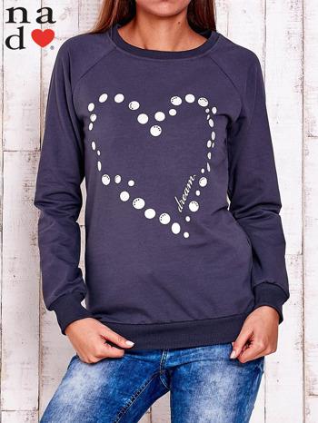 Grafitowa bluza z wzorem serca                                  zdj.                                  1