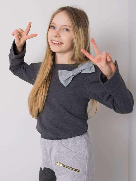 Grafitowa bluzka dla dziewczynki DODO KIDS