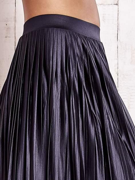 Grafitowa plisowana spódnica maxi                                  zdj.                                  6