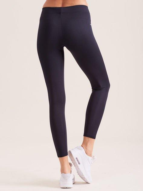 Grafitowe legginsy z szeroką gumką w pasie                               zdj.                              2
