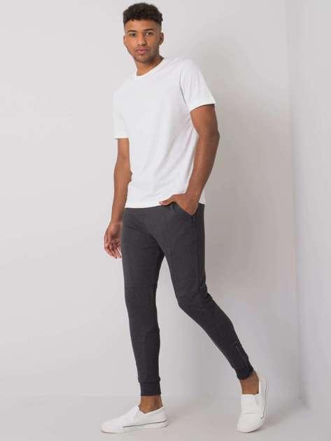 Grafitowe spodnie dresowe męskie Bryson