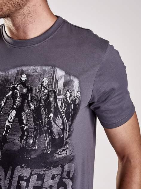 Grafitowy t-shirt męski AVENGERS                                  zdj.                                  7