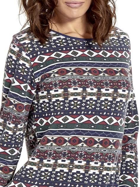 Granatowa bluza w azteckie wzory                                  zdj.                                  5