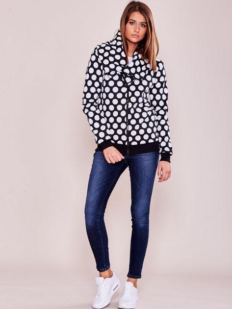 Granatowa bluza w grochy                              zdj.                              4