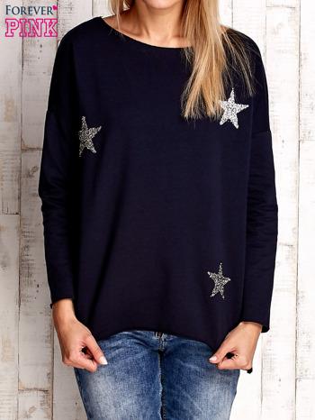 Granatowa bluza z błyszczącymi gwiazdkami                                  zdj.                                  1