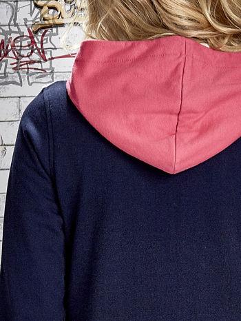 Granatowa bluza z kolorowymi wstawkami                                  zdj.                                  8