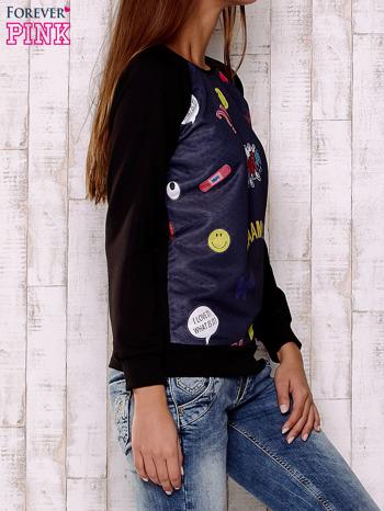 Granatowa bluza z komiksowymi motywami                                  zdj.                                  3