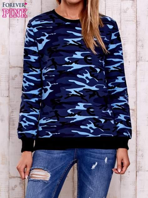 Granatowa bluza z motywem moro                                  zdj.                                  1