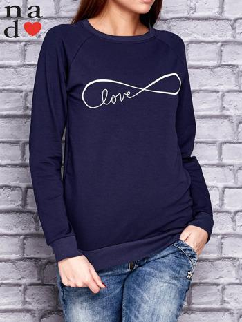 Granatowa bluza z napisem LOVE                              zdj.                              1