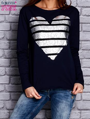 Granatowa bluza z sercem                                  zdj.                                  1