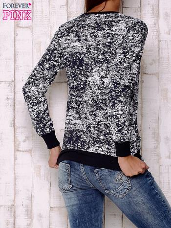 Granatowa bluza ze złotym nadrukiem 90                                  zdj.                                  2