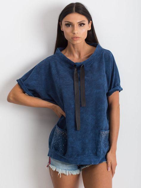Granatowa bluzka Affordability                              zdj.                              1
