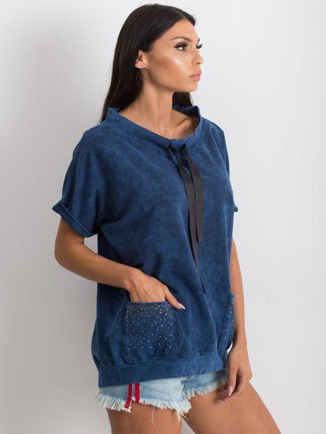Granatowa bluzka Affordability                              zdj.                              3