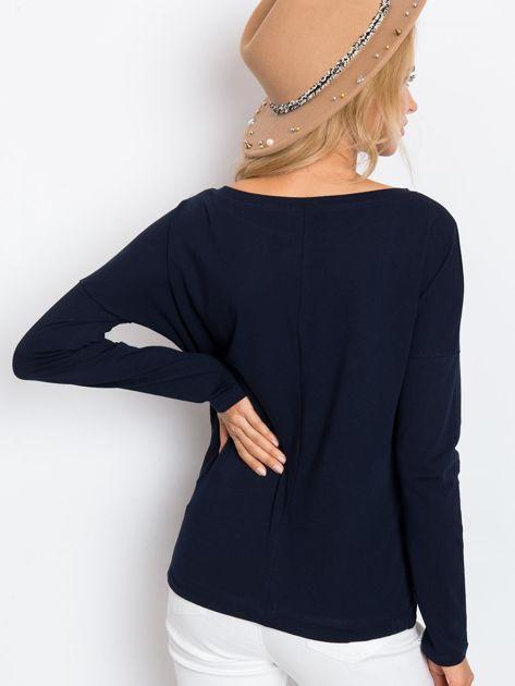 Granatowa bluzka Carla                              zdj.                              2