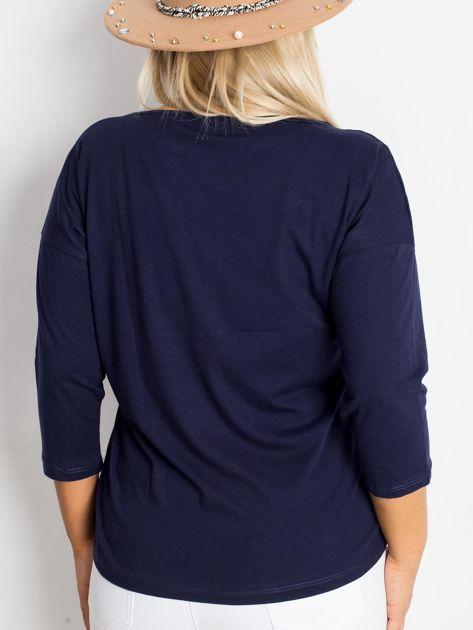 Granatowa bluzka plus size Dreamer                              zdj.                              2