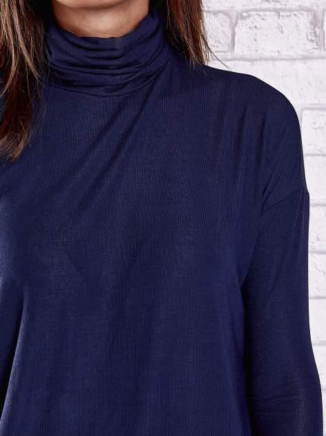 Granatowa bluzka z golfem                                  zdj.                                  6