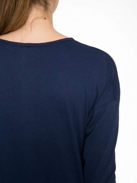 Granatowa bluzka z napisem MAKE IDEAS HAPPEN                                  zdj.                                  8