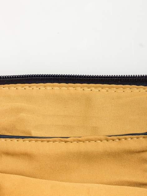 Granatowa kopertówka z dżetami motyw wąsów                                  zdj.                                  8