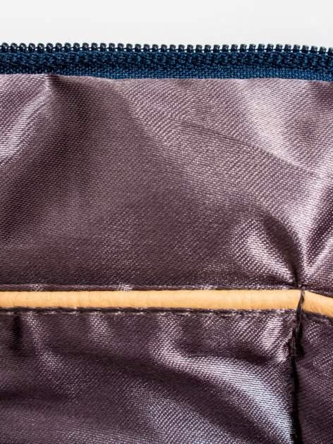 Granatowa kopertówka z dżetami napis LUCY WORLD                                  zdj.                                  8